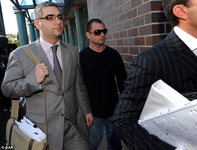Mr Zervas (pictured, centre, arriving at court in 2010) is the brother of Hells Angels bikie Anthony Zervas who was killed at Sydney Airport in 2009