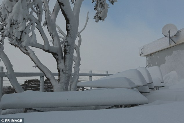 Perisher ski fields saw another snow storm on Wednesday which brought with it over a metre of fresh snow