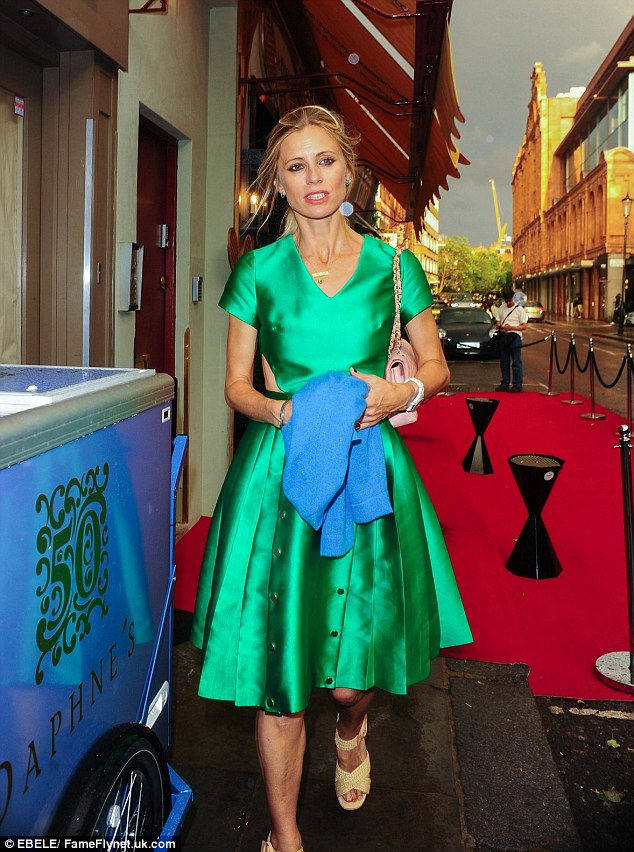 Great minds think alike: Model Laura Bailey was rocking a dress in the same hue as Sophie's