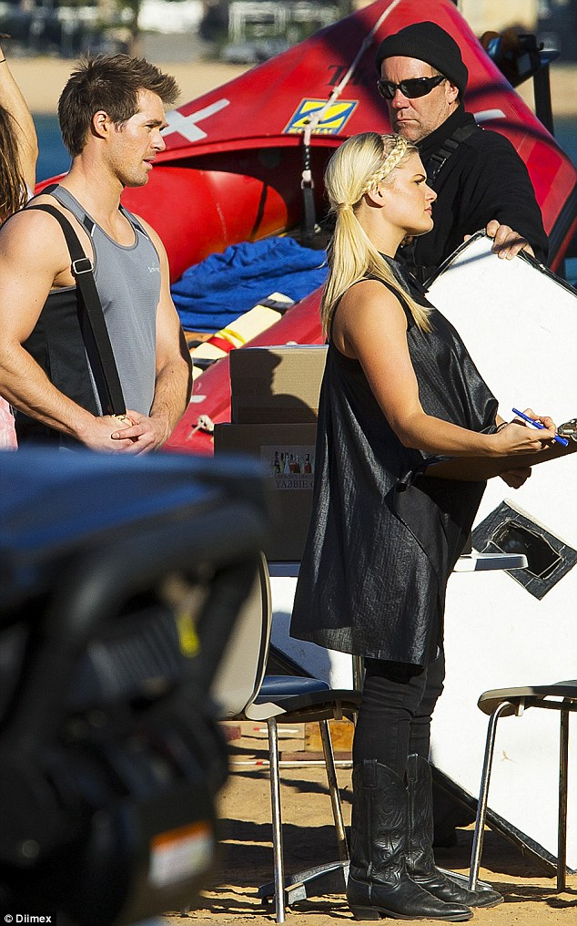 Maybe baby? Bonnie Sveen sparked rumours her character Ricky Sharpe may be pregnant on Home And Away as she donned a billowing shirt dress while filming scenes with co star Kyle Pryor on Tuesday
