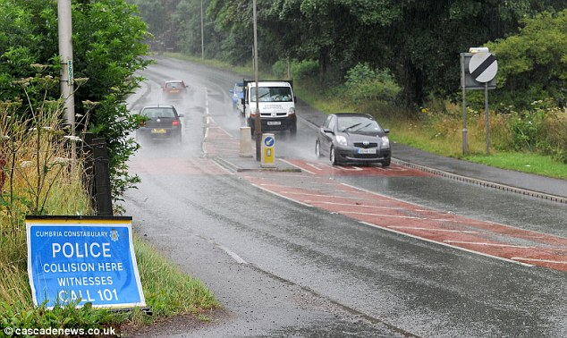 The teenager's Vauxhall Corsa collided with a HGV on the A590 at Linda in Cumbria