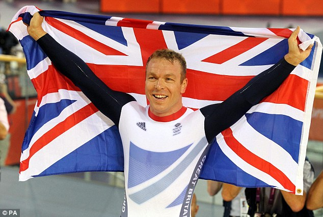 Golden boy: He also significantly helped Britain's most successful Olympic Sir Chris Hoy