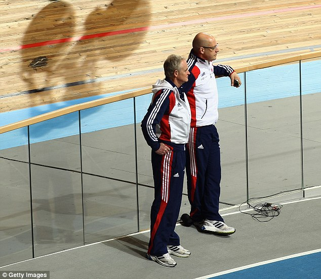 Gurus: Peters with former British Cycling chief Sir Dave Brailsford in 2011