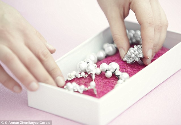 Just 33 per cent of this jewellery is regularly worn with the remaining two-thirds left neglected in a jewellery box