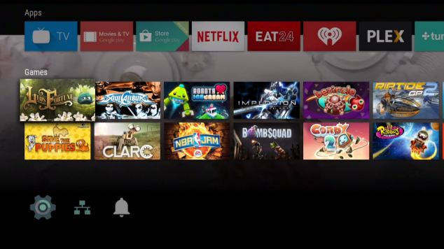 Android TV can also run android apps modified for the big screen - and Google hopes to attract existing developers to the TV with the product