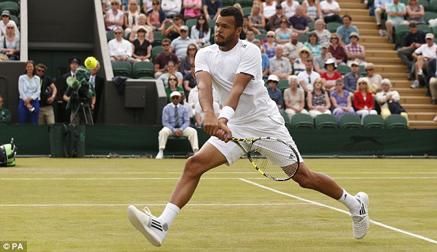 Marathon man: Jo-Wilfried Tsonga has now been involved in two five-set games in two matches