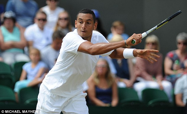 Kyrgios, who at 19 is the youngest man in the draw, is currently ranked 144th in the world