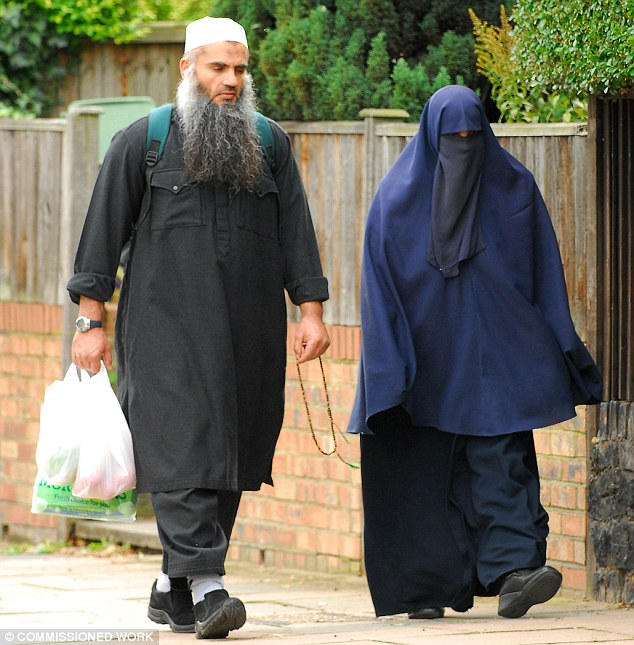 Long stay: Abu Qatada and his family moved to Britain in 1993 and were granted asylum the following year. While living in Britain, Qatada lived on benefits totalling an estimated £500,000. He was finally extradited in 2013