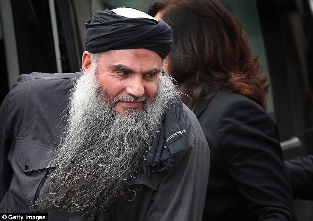 On his way: Following a lengthy legal process, which cost British taxpayers millions of pounds, Abu Qatada was finally extradited last July