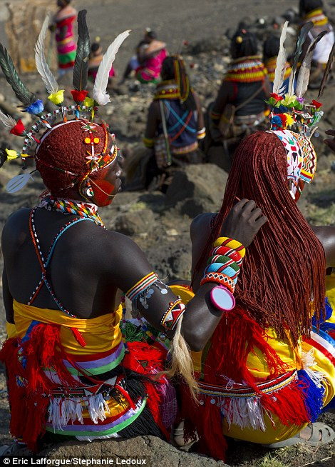Wonderful: Colourfully dressed Samburu man