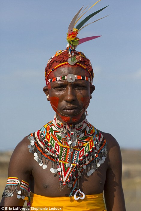 Colourful: The Samburu's feathered headdresses are better than anything found at Glastonbury