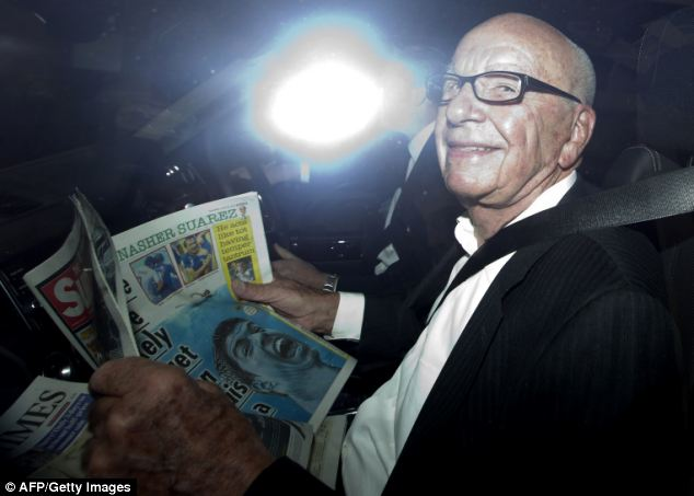 The FBI are allegedly in possession of 80,000 emails taken from Rupert Murdoch's News Corp servers