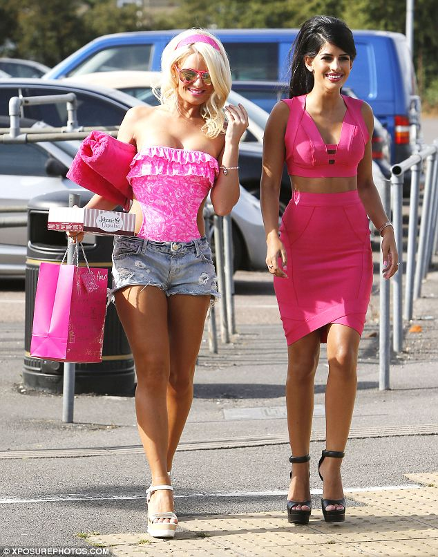 In the pink: Danielle Armstrong and Jasmin Walia go for vibrant fuchsia ensembles