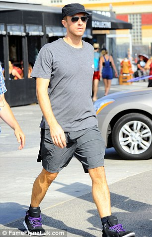 In town: Chris was spotted in Venice Beach on Wednesday
