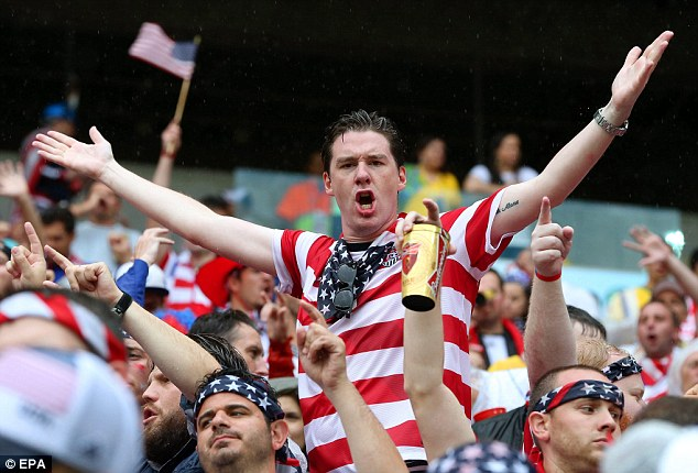 New fans: 'Soccer' has seen an explosion of popularity during the tournament both in the US and Brazil
