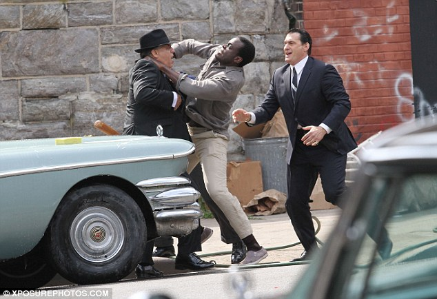 Brawling: The set for the series featured a violent altercation with actor Ato Essandoh