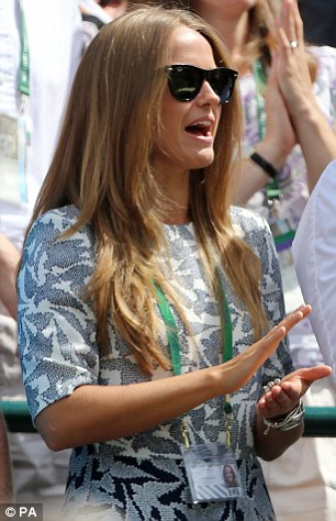 Fellow WAGs: Kim Sears and Tomas Berdych's model girlfriend Ester Satorova have also been seen sitting in the arena since the competition began on Monday