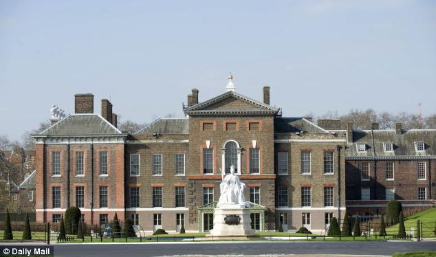 Four police officers guarding Kensington Palace (pictured), home to the Duke and Duchess of Cambridge, and St James's Palace, made way for lower-paid security guards last year, it can be revealed
