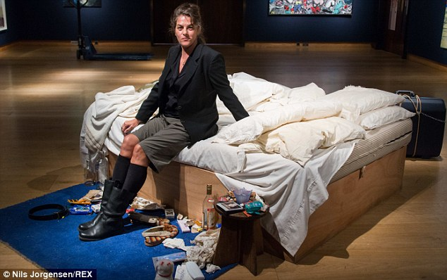 'Iconic': Emin said My Bed, which nearly won the Turner Prize, 'changed people's perceptions of art'