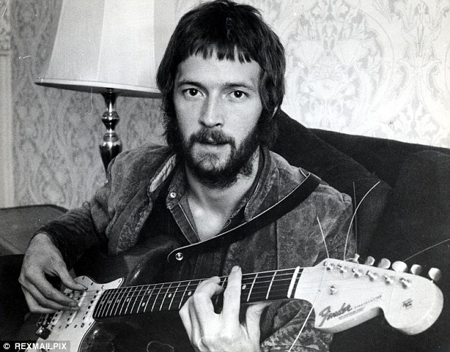 Long career: Clapton, known as 'Slowhand', rose to fame in the Sixties as a teenager with The Yardbirds