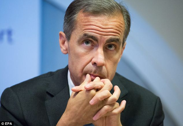 Fingers crossed: Mark Carney, the governor of the Bank of England urged people to focus on the 'big picture' rather than obsessing about when interest rates will start to rise.