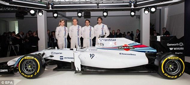 One of the team: Susie with her teammates Valtteri Bottas, Felipe Massa and Felipe Nasr