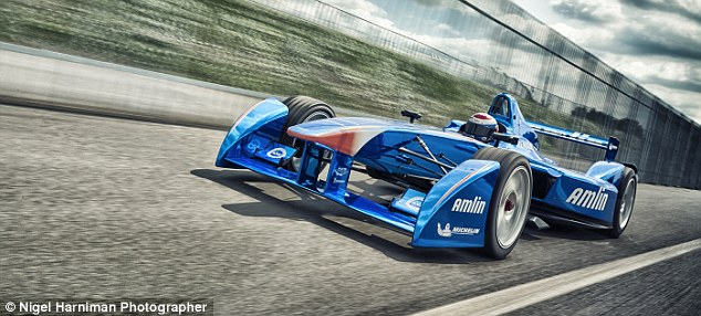 New series: The Formula E cars look similar to their Formula 1 cousins but are electric
