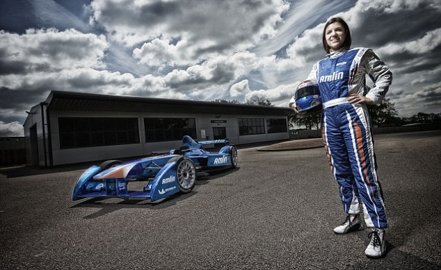 Driving force: Katherine Legge has been selected as a driver for Amlin's Formula E motor racing team