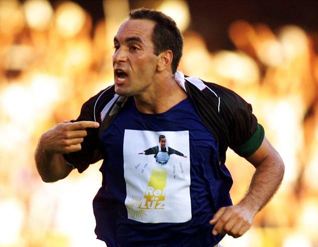 Feisty character: Edmundo was sent off seven times in 1997 and has spent a brief spell in prison in the past