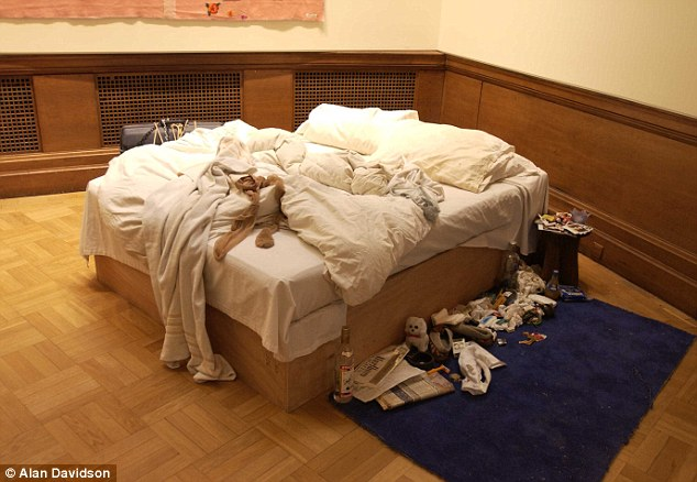 Popular: The bed, pictured on display in 2003, is currently owned by Charles Saatchi which could make £1.2m from the sale
