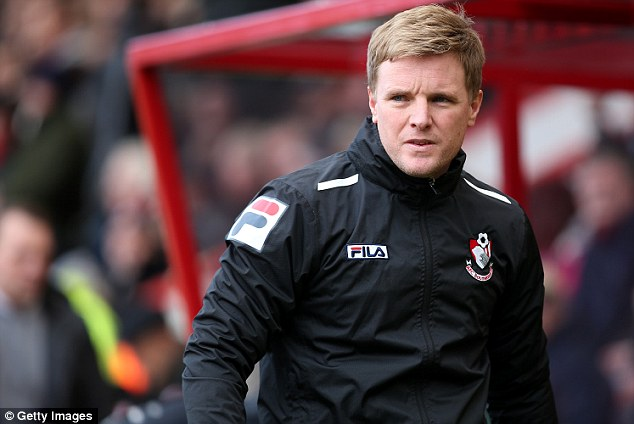 Big spender: Bournemouth boss Eddie Howe will be hoping to use the money to rebuild his squad