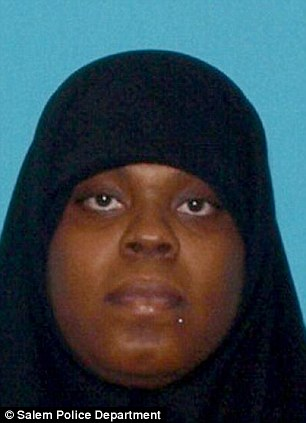 Wanted: Latia Harris, 25, is facing charges of assault and making terroristic threats