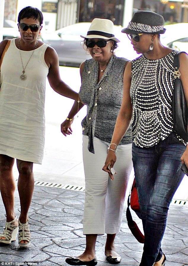 Ladies day out: Star Jones enjoyed lunch with Vivica Fox and Bell Calloway on Thursday in Los Angeles