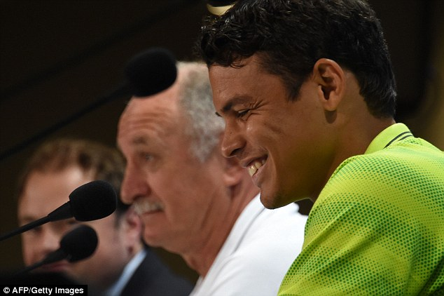 Friends: Thiago Silva was very big on his praise for the Brazil boss ahead of their last 16 tie