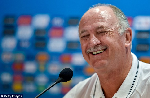 Pressure? What pressure? Scolari laughed off journalists' questions on Friday ahead of the game