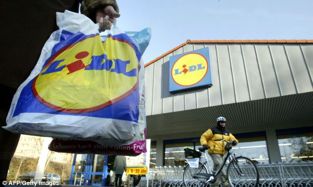 Blow: Lidl landed another body blow on Tesco yesterday as it announced the creation of 2,500 jobs