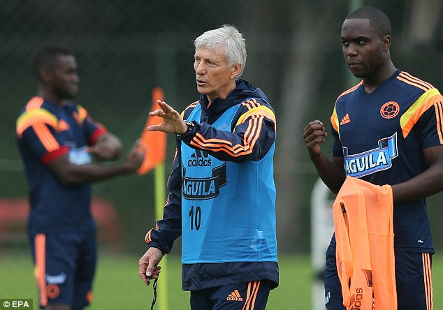 Warning to his players: Colombian national coach Jose Pekerman says the team must stay focused