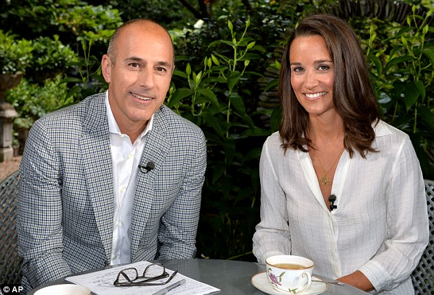 Matt Lauer interviews Pippa Middleton in London for the Today Show
