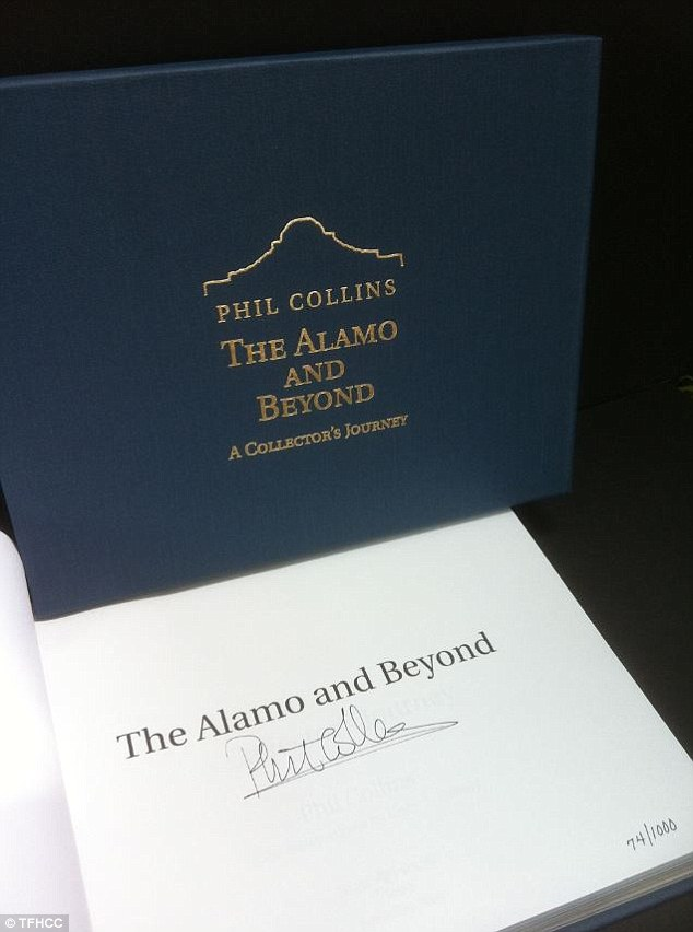 Phil Collins has written a book, The Alamo and Beyond, about his collection of artifacts