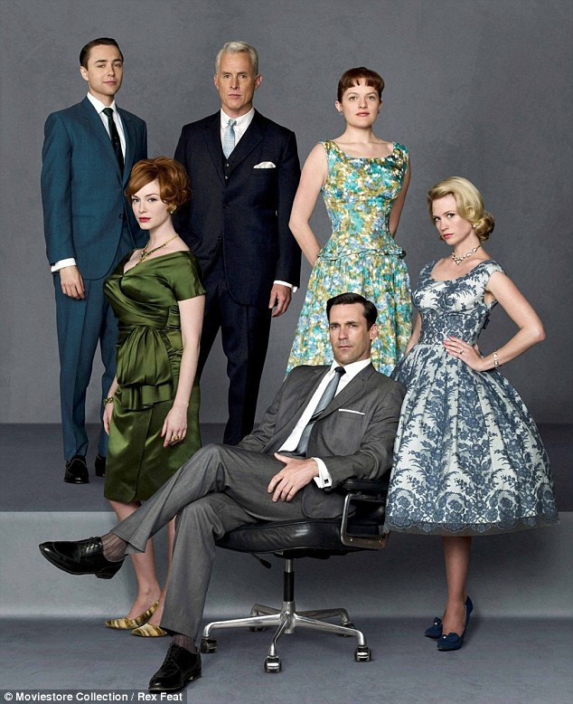 Check it out! The blonde beauty's (bottom right) hit show Mad Men finished airing the first half of its seventh season on May 25. The next seven episodes will air in the spring of 2015
