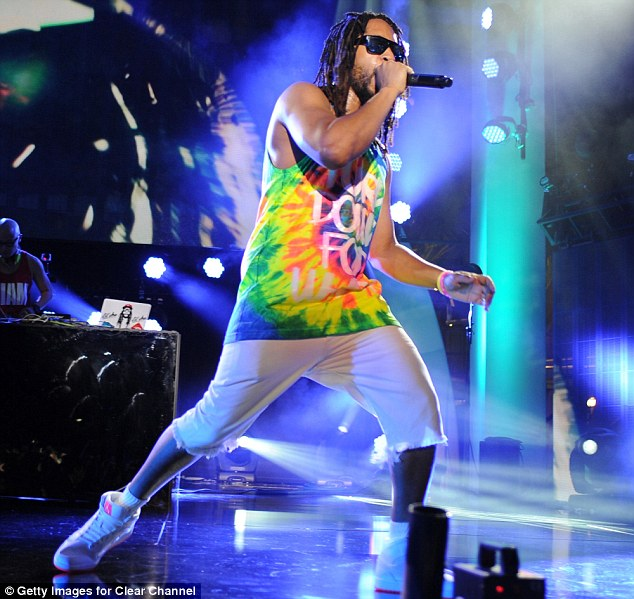 Bringing the house down: Rapper Lil Jon also performed at the event