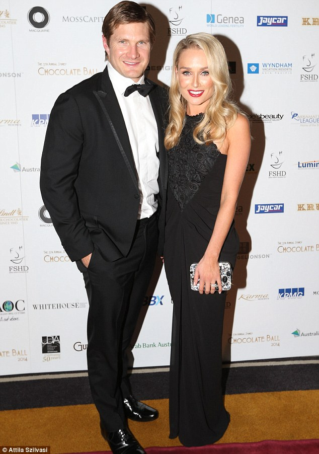 Celebrity gala: Australian cricketer Shane Watson was also at the ball, along with his wife Lee Furlong