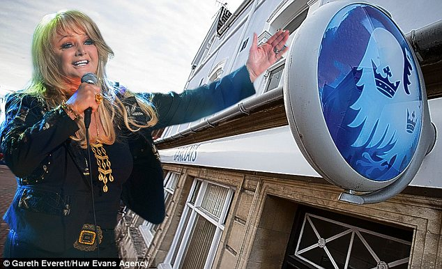 Lost in Wales: Barclays is closing its branch in Bonnie Tyler's birthplace of Skewen