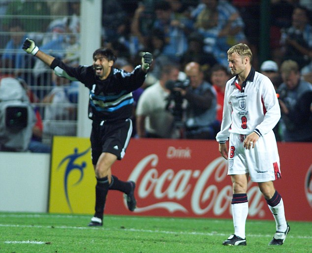 Joyous occasion: Argentina have won three out of four penalty shootouts including vs England in 1998