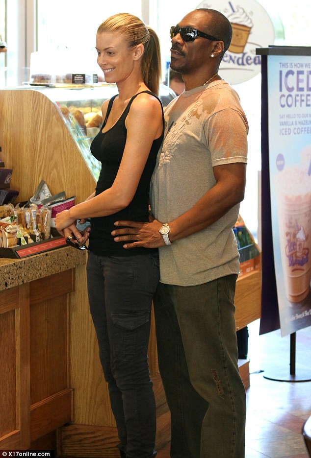 They love their Coffee Bean: Eddie Murphy, the 53-year-old comedic actor, and his 35-year-old Australian girlfriend, model Paige Butcher, were seen grabbing drinks from their favorite coffee shop on Friday