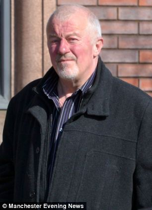 O'Brien outside Minshull Street Crown Court today before he was sentenced to eight years in jail