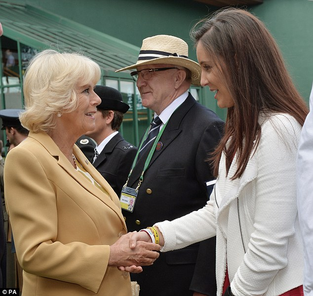 Special guest: Injured Laura Robson, friends with Wozniacki, meets The Duchess of Cornwall at Wimbledon