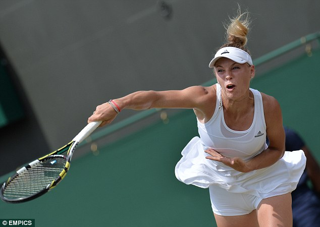 Determined: Robson says Wozniacki will be focussed only on winning points come Monday