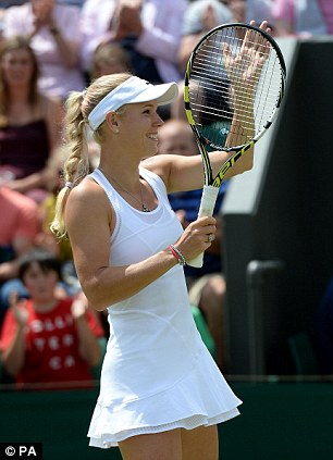 Good form: Wozniacki is on track to make her first Wimbledon quarter-final