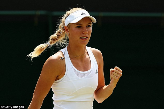 Focussed: Caroline Wozniacki has put her private life in the background as she regains form on the court